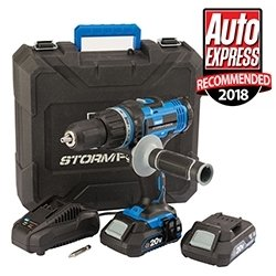 Draper-Storm-Force-Combi-Drill-With-2x-2.0ah-Batteries-Charger