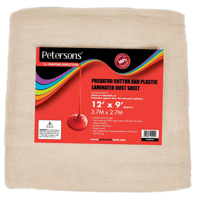 Petersons-Predator-Cotton-and-Plastic-Dust-Sheet-12ft-x-9ft